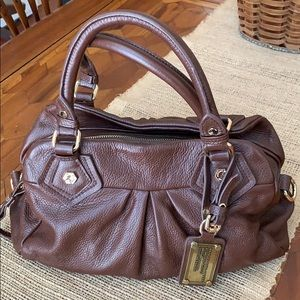 Marc Jacobs leather brown tote satchel clutch